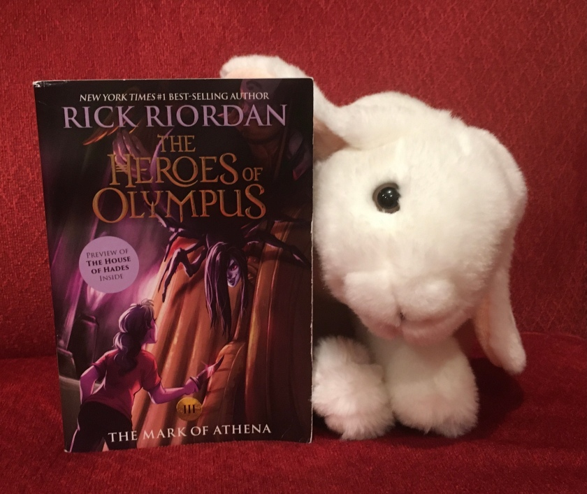 Marshmallow reviews The Mark of Athena (Book 3 of the Heroes of Olympus Series) by Rick Riordan.