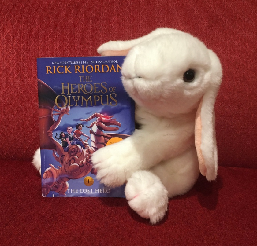 Marshmallow reviews The Lost Hero (Book 1 of the Heroes of Olympus Series) by Rick Riordan.