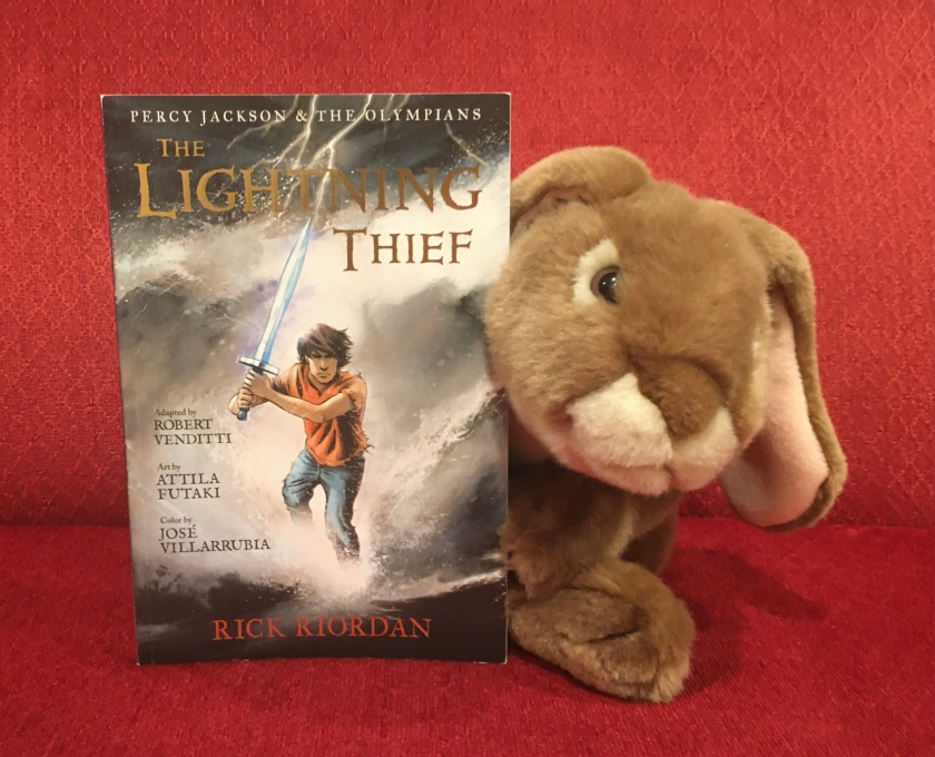 Caramel reviews The Lightning Thief: The Graphic Novel, written by Rick Riordan, and adapted by Robert Venditti, with Attila Futaki, Jose Villarrubia, Orpheus Collar, and Chris Dickey.