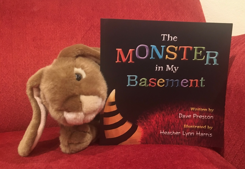Caramel reviews The Monster in My Basement, written by Dave Preston and illustrated by Heather Lynn Harris.