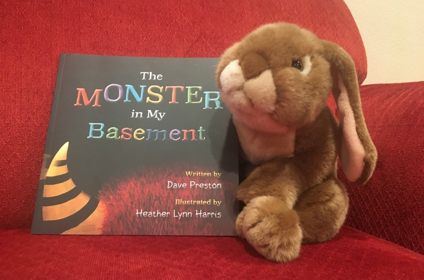 Caramel has really enjoyed reading The Monster in My Basement, written by Dave Preston and illustrated by Heather Lynn Harris, and would recommend it to all other little bunnies.