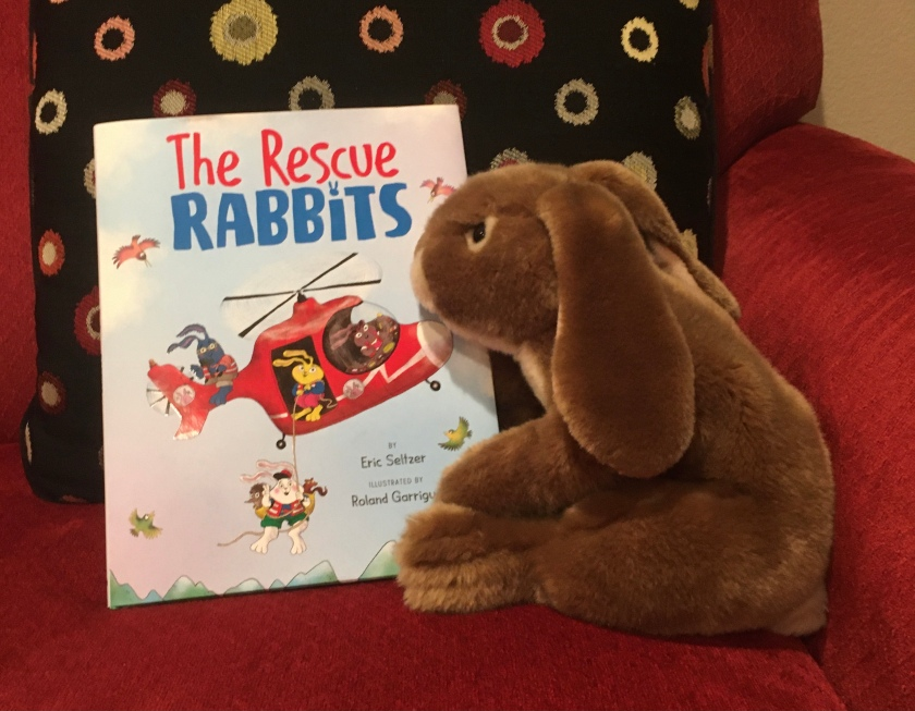 Caramel has enjoyed reading The Rescue Rabbits written by Eric Seltzer and illustrated by Roland Garrigue.