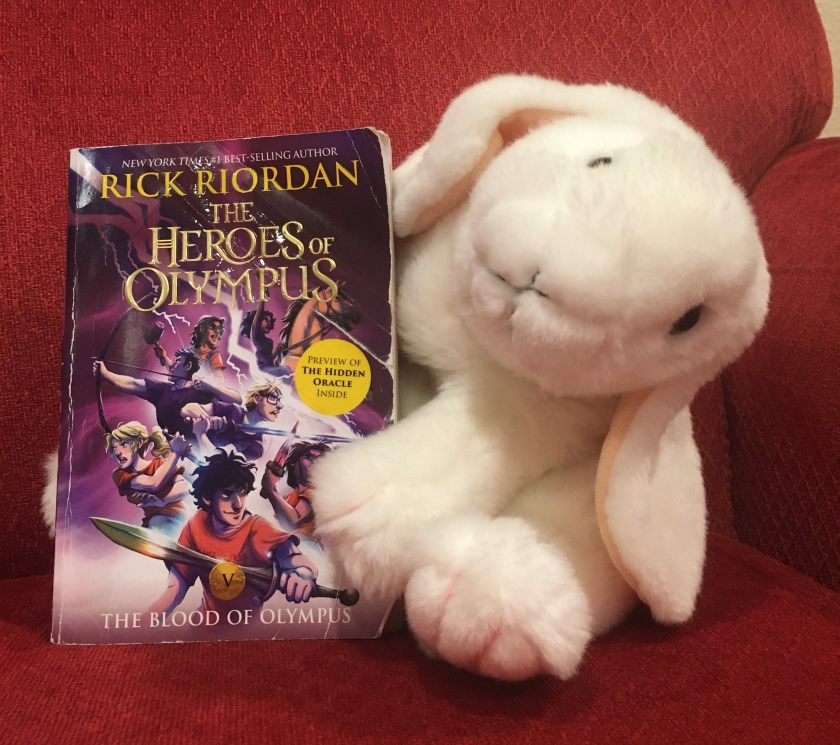Marshmallow rates The Blood of Olympus (Book 5 of the Heroes of Olympus Series) by Rick Riordan 100%.