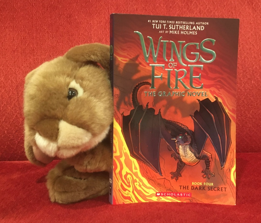Caramel reviews The Dark Secret (Book Four of Wings of Fire) by Tui Sutherland and Mike Holmes.
