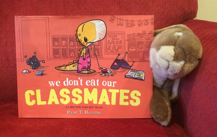 Caramel reviews We Don't Eat Our Classmates by Ryan T. Higgins.