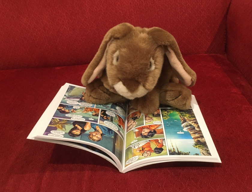 Caramel is reading The Sea of Monsters: The Graphic Novel by Rick Riordan, adapted by Robert Venditti, with Attila Futaki, Tamas Gaspar, and Chris Dickey.