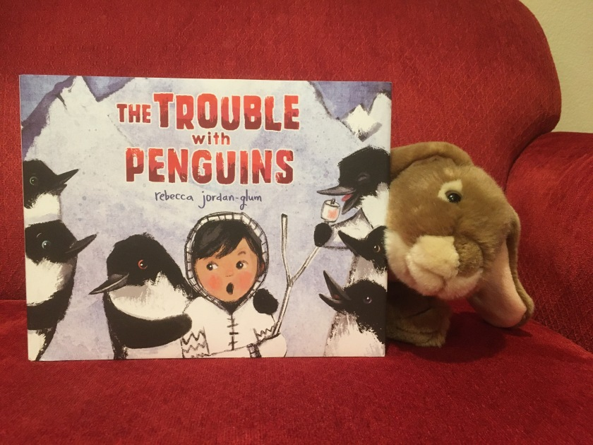 Caramel reviews The Trouble with Penguins, written and illustrated by Rebecca Jordan-Glum.