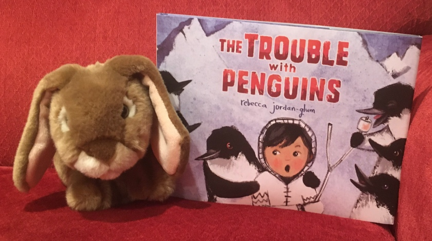 Caramel really enjoyed reading The Trouble with Penguins, written and illustrated by Rebecca Jordan-Glum, and thinks all other little bunnies who love penguins and marshmallows will enjoy it, too.