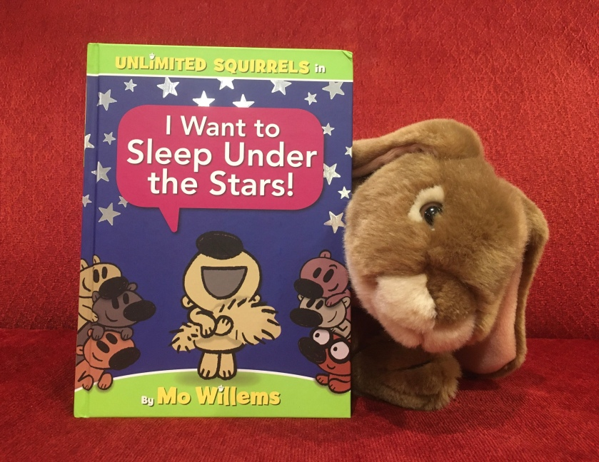 Caramel really enjoyed reading I Want to Sleep Under the Stars! by Mo Willems and is keen to read more about the Unlimited Squirrels!