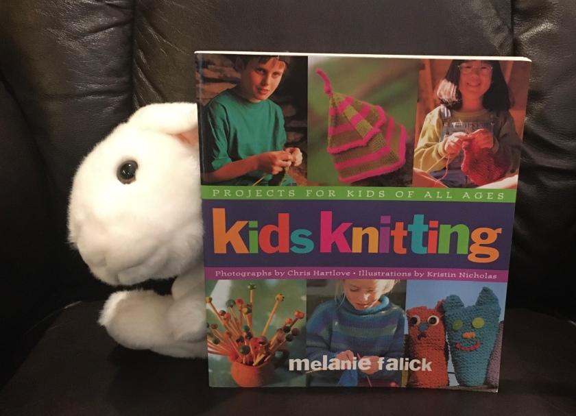 Marshmallow reviews Kids Knitting: Projects for Kids of All Ages, by Melanie Falick.