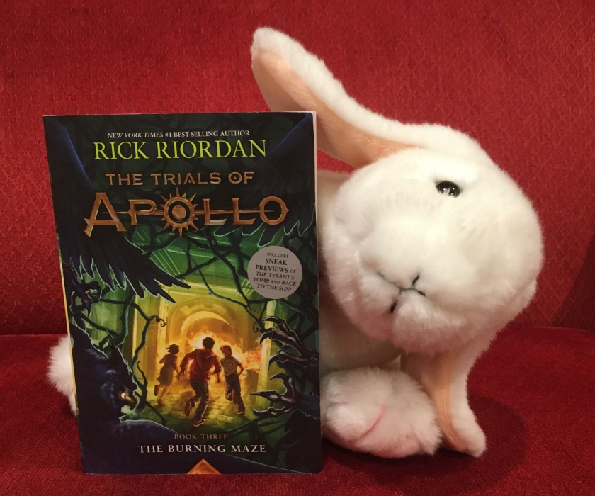 Marshmallow rates The Burning Maze (Book 3 of the Trials of Apollo Series) by Rick Riordan 100%.