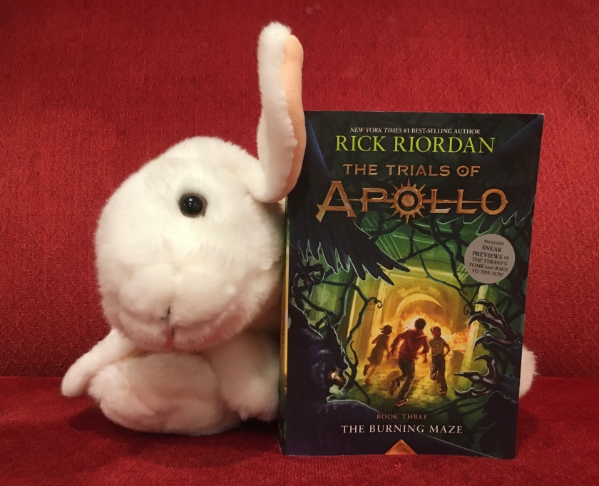 Marshmallow reviews The Burning Maze (Book 3 of the Trials of Apollo Series) by Rick Riordan.