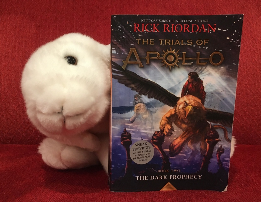 Marshmallow reviews The Dark Prophecy (Book 2 of the Trials of Apollo Series) by Rick Riordan.