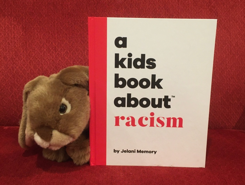 Caramel appreciated reading A Kids Book About Racism by Jelani Memory and thinks he has a better sense of what racism means now.