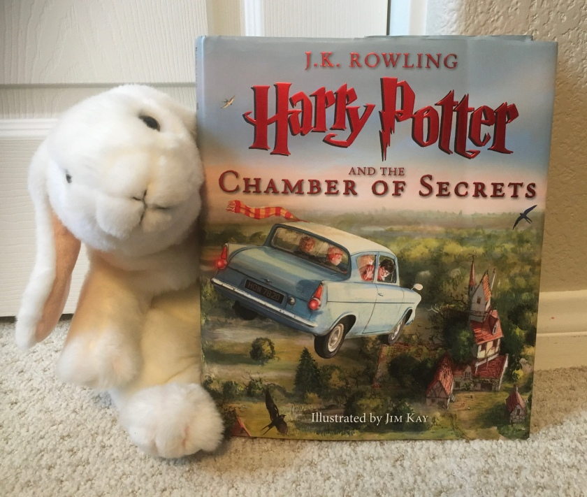Marshmallow reviews Harry Potter and the Chamber of Secrets, written by J.K. Rowling and illustrated by Jim Kay.