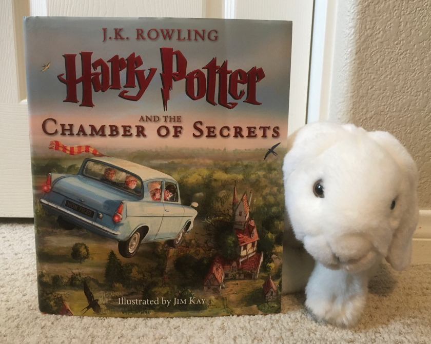 Marshmallow rates Harry Potter and the Chamber of Secrets written by J.K. Rowling and illustrated by Jim Kay 100%.