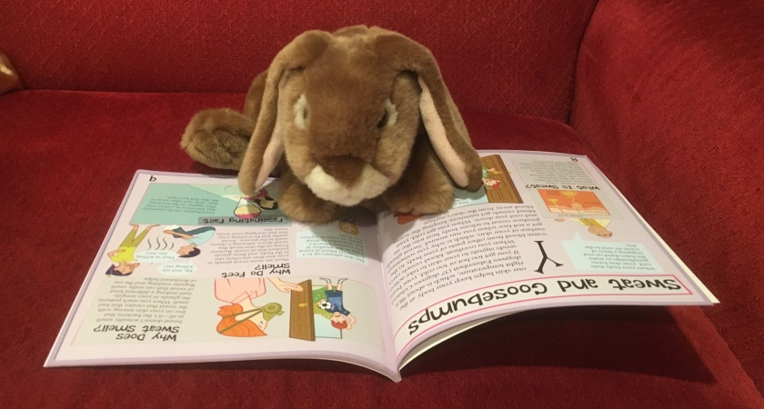 Caramel is reading The Science of Acne and Warts: The Itchy Truth About Skin by Alex Woolf.