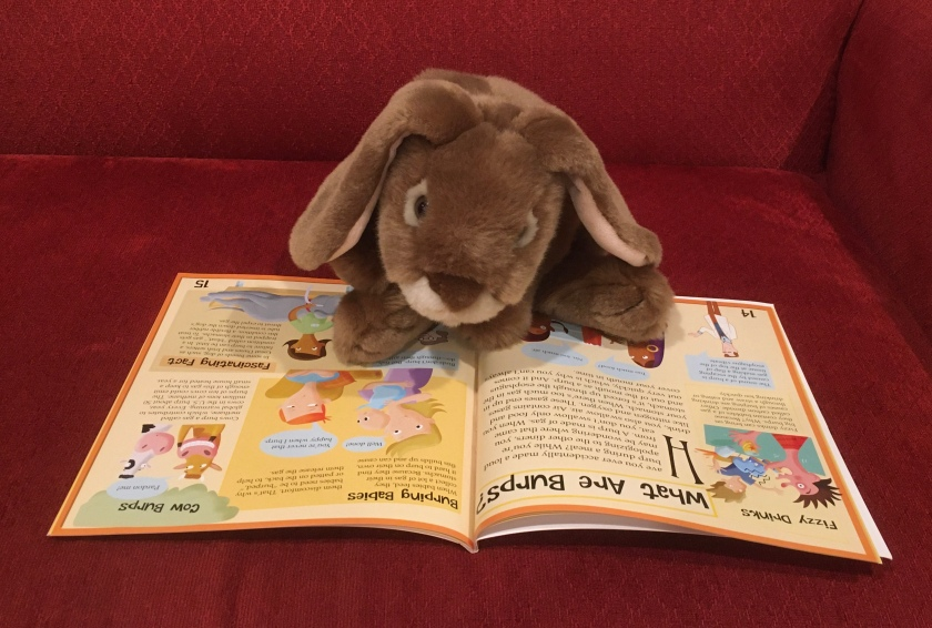 Caramel is reading The Science of Poop and Farts: The Smelly Truth About Digestion by Alex Woolf.