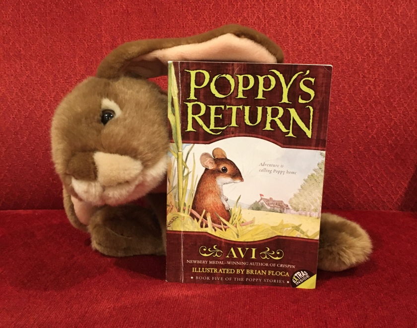 Caramel enjoyed reading Poppy's Return by Avi and is looking forward to reading the nest and last book in the series soon.