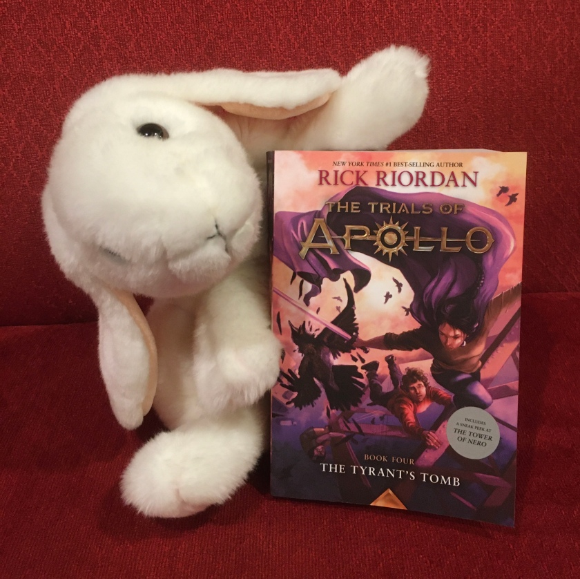 Marshmallow reviews The Tyrant's Tomb (Book 4 of the Trials of Apollo series) by Rick Riordan.