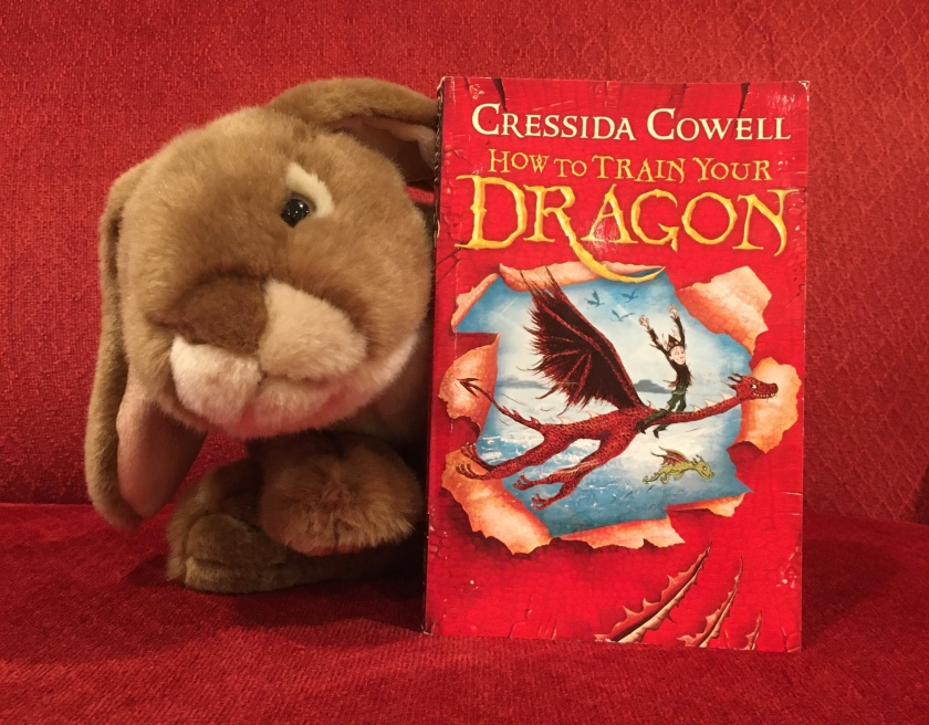 Caramel has very much enjoyed finally reading How to Train Your Dragon by Cressida Crowell and is all ready to dive into the second book.