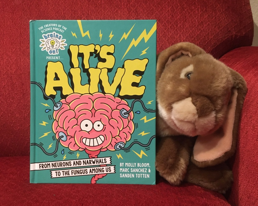 Caramel loved reading the Brains On! book It's Alive: From Neurons and Narwhals to the Fungus Among Us, by Molly Bloom, Marc Sanchez, and Sanden Totten, and cannot wait to share all his new facts with friends and family.