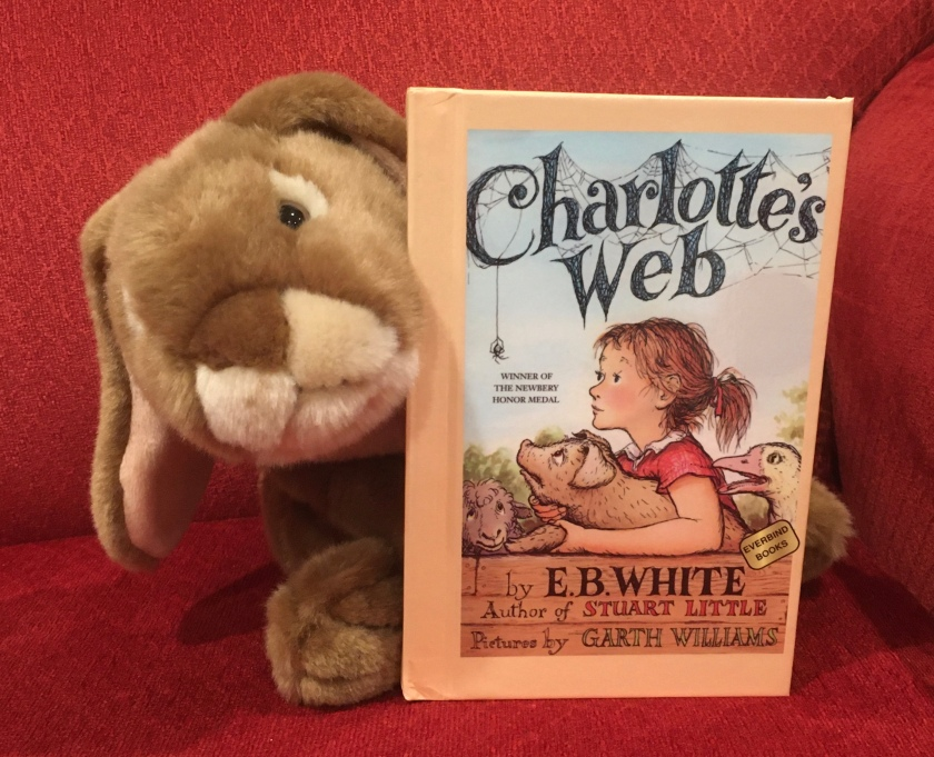 Caramel has enjoyed reading Charlotte's Web, written by E.B. White and illustrated by Garth Williams, and recommends it strongly. He already convinced both Marshmallow and Sprinkles to read the book.