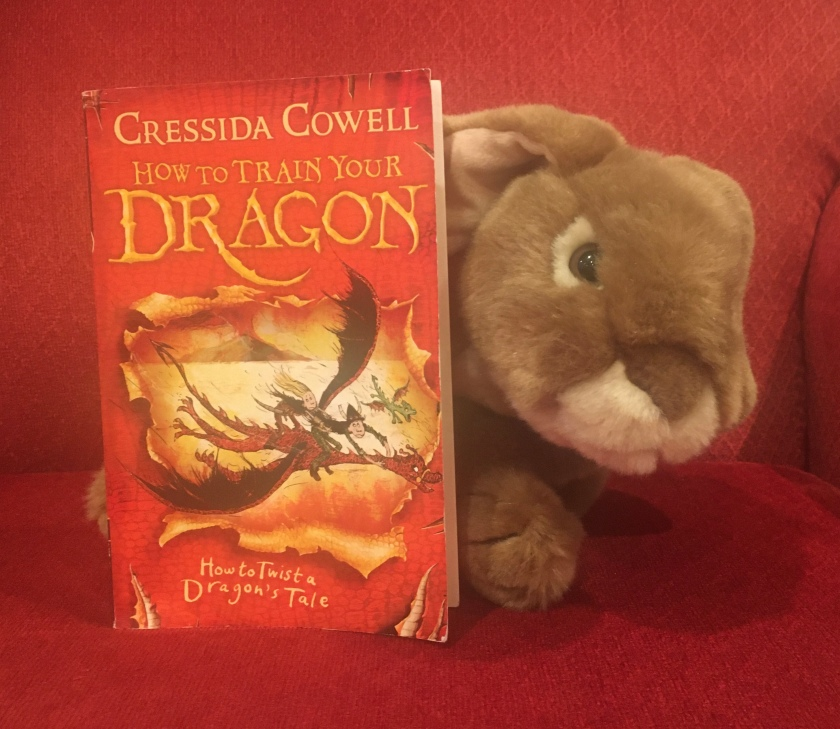 Caramel enjoyed reading How to Twist a Dragon's Tale (Book #5 of How to Train Your Dragon Series) by Cressida Cowell, and is looking forward to reading the rest of the series soon, though their reviews might need to wait till the end of the summer.
