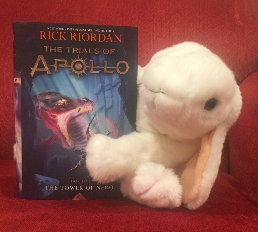 Marshmallow reviews The Tower of Nero (Book 5 of the Trials of Apollo Series) by Rick Riordan.
