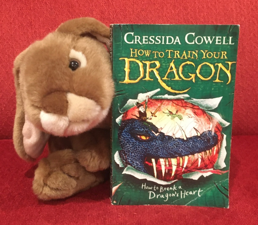 Caramel reviews How To Break A Dragon's Heart (Book #8 of How to Train Your Dragon Series) by Cressida Cowell.