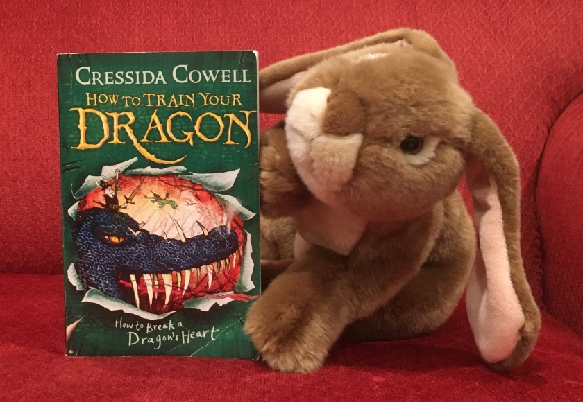 Caramel loved reading How To Break A Dragon's Heart (Book #8 of How to Train Your Dragon Series) by Cressida Cowell, and is ready for book #9 and whatever follows.