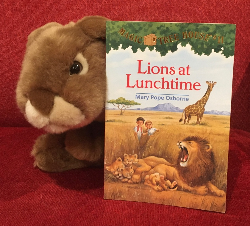 Caramel reviews Lions at Lunchtime (Magic Tree House #11) by Mary Pope Osborne.