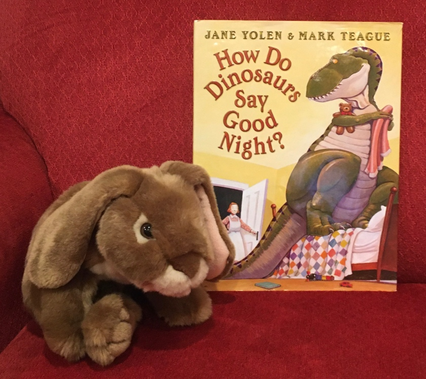 Caramel reviews How Do Dinosaurs Say Good Night? (2000),  written by Jane Yolen and illustrated by Mark Teague.