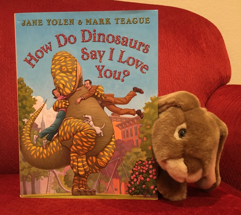 Caramel reviews How Do Dinosaurs Say I Love You? (2009),  written by Jane Yolen and illustrated by Mark Teague.