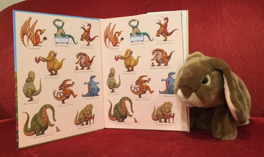 Caramel is showing us the full cast of How Do Dinosaurs Say I Love You? (2009),  written by Jane Yolen and illustrated by Mark Teague.