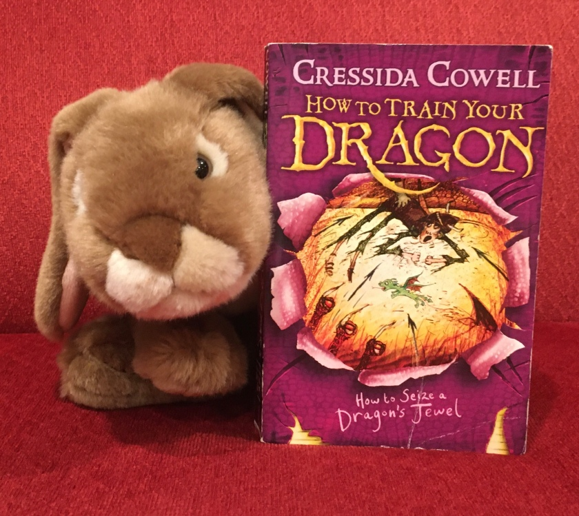 Caramel both liked and disliked reading How to Seize A Dragon's Jewel (Book #10 of How to Train Your Dragon Series) by Cressida Cowell. He is eager to see how the stories will wrap up in the last books of the series.