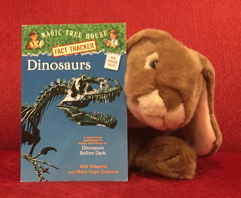 Caramel enjoyed reading Dinosaurs (Magic Tree House Fact Tracker #1) by Will Osborne and Mary PopeOsborne, and expects he will be coming back to it for tidbits on dinosaurs many more times in the future.