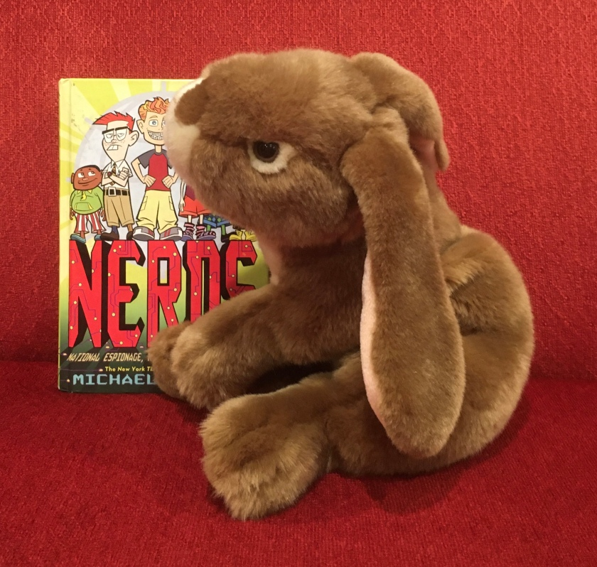 Caramel enjoyed reading N.E.R.D.S.: National Espionage, Rescue, and Defense Society, by Michael Buckley, and is looking forward to reading the next book in the series.