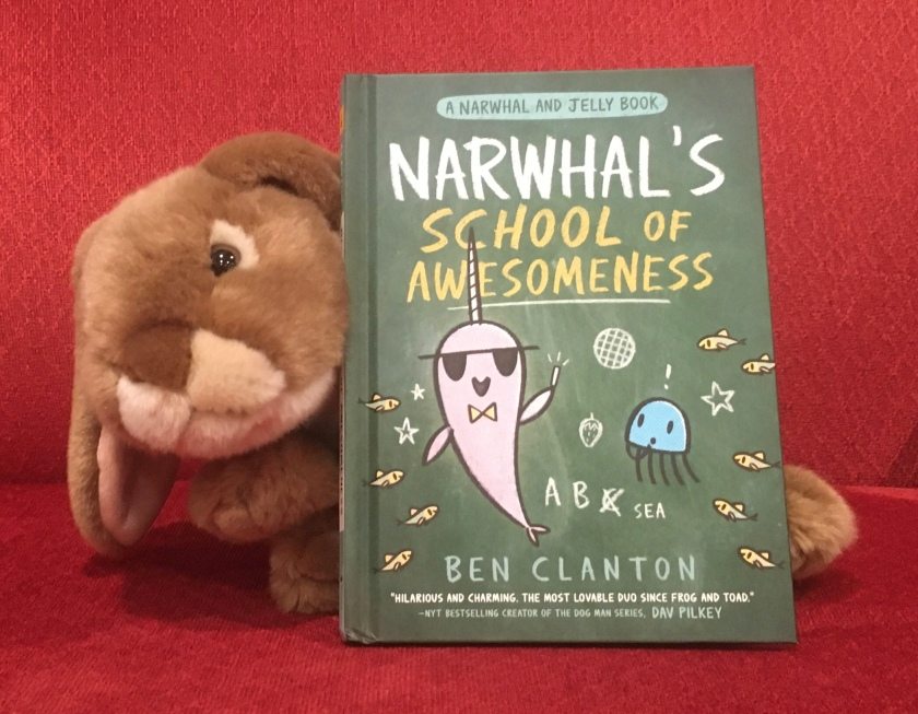 Caramel loved reading Narwhal's School of Awesomeness by Ben Clanton, and reconnecting with old friends Narwhal and Jelly.