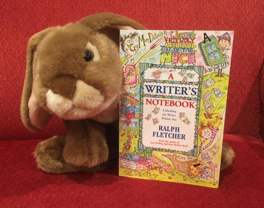 Caramel enjoyed reading A Writer's Notebook by Ralph Fletcher, and will probably continue to doodle and write in his notebook in the coming months and years. .
